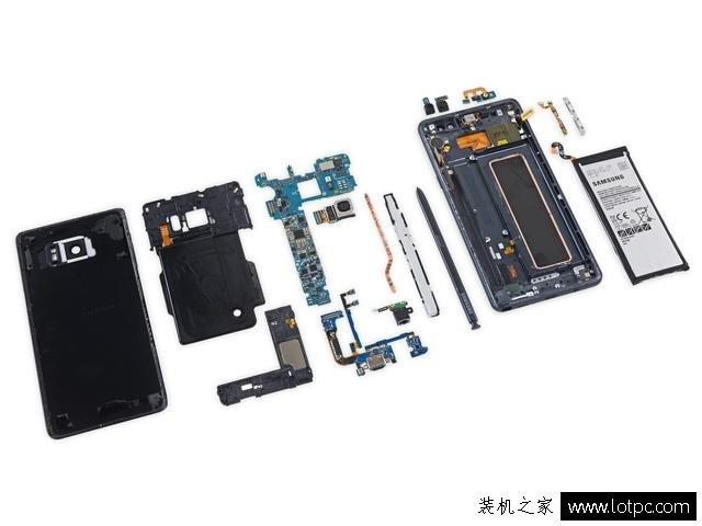 note7手机如何拆解 三星galaxy