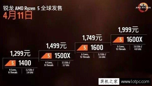 AMD Ryzen5处理器有哪些型号?AMD Ryzen5平台装机指南