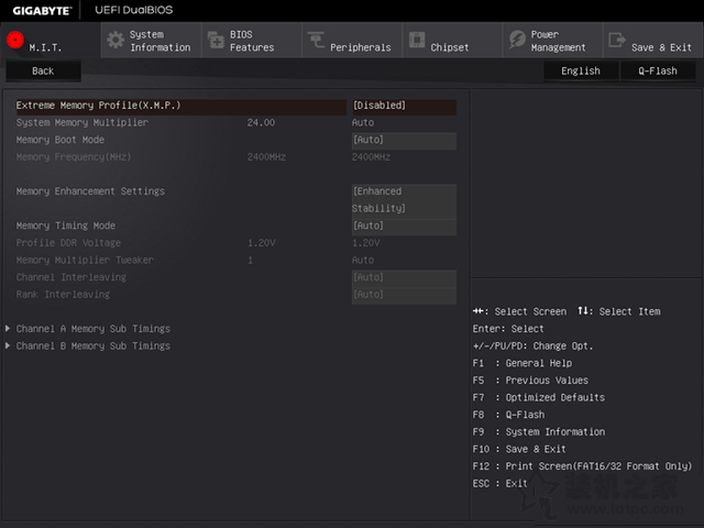 技嘉主板BIOS如何设置及进入 技嘉主板BIOS设置图解教程