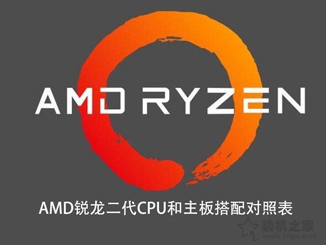 主板和CPU怎么搭配?AMD锐龙二代CPU和主板搭配对照表