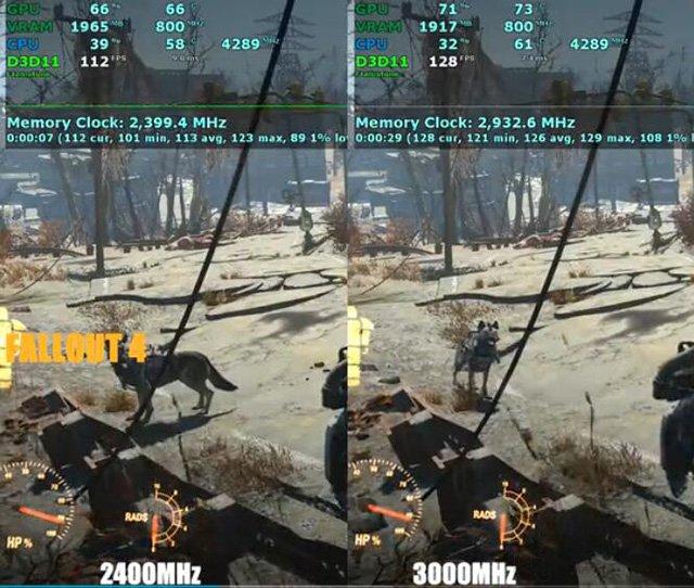 内存频率对《辐射4》游戏的影响