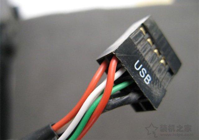 对应机箱USB跳线
