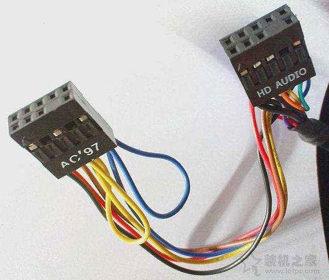 对应机箱AC97或者HD AUDIO接口