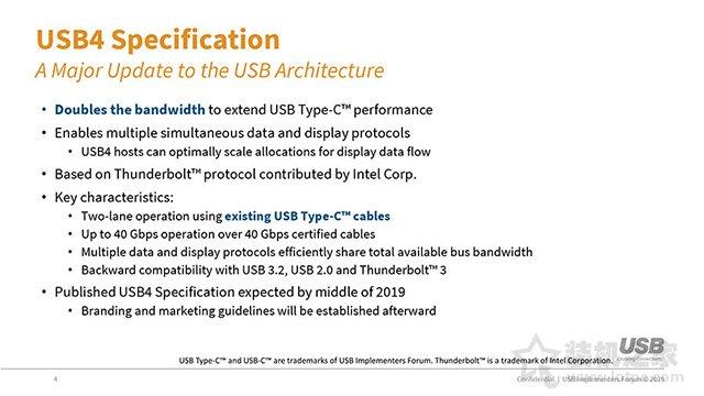 USB 4.0即将来到!将全力整合融合Thunderbolt 3的技术