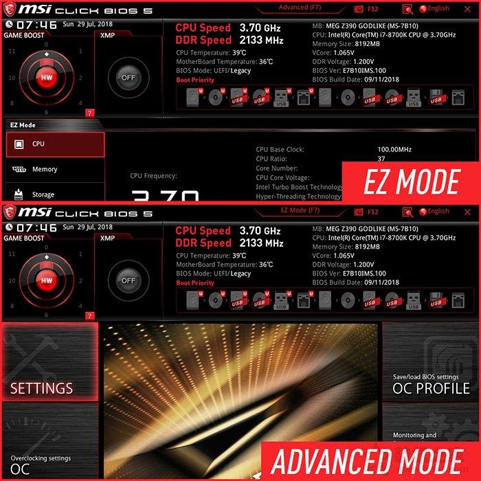 微星Z390主板:intel九代i5-9600K、i7-9700K、i9-9900K超频教程