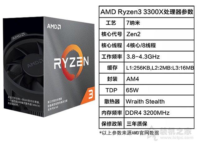 AMD 锐龙 R3-3300X处理器