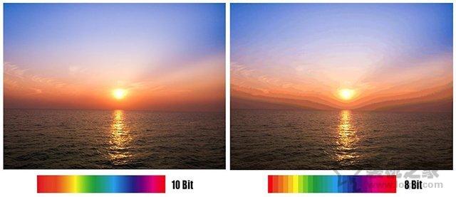 10Bit和8Bit夸张对比