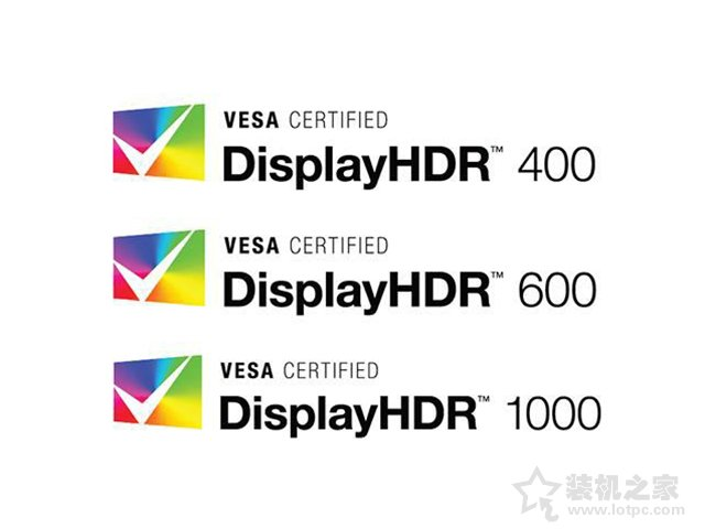DisplayHDR认证不同等级
